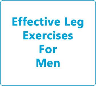 Effective leg exercises for men