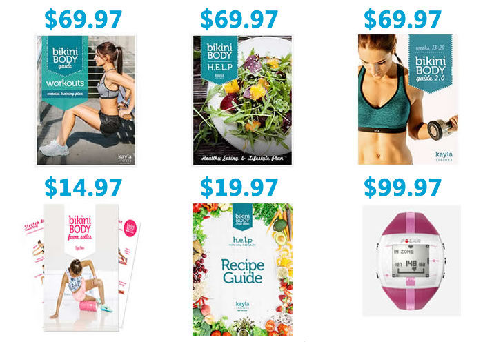 Kayla Itsines Bikini Body Guide full list