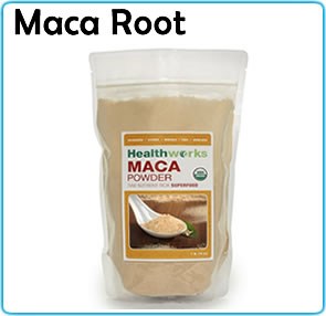 superfoods maca roots powder